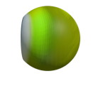 Round green simple